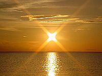 Pôr-do-Sol no rio Tapajós