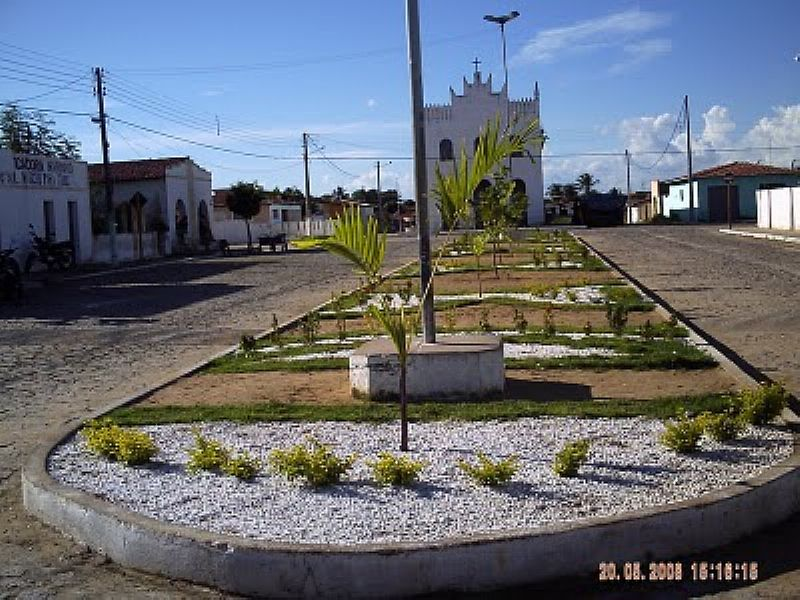 LAGOA DE VELHOS-RN-PRAÇA E IGREJA MATRIZ-FOTO:JACKSON FELIX - LAGOA DE VELHOS - RN