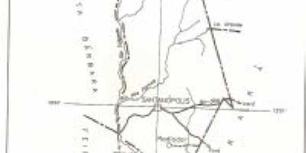 mapa de Santan�polis, Por Telma Rodrigues