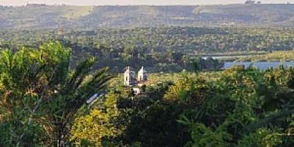 Santiago do Iguapé-BA-Vista da Igreja e região-Foto:patrimonioespiritual.