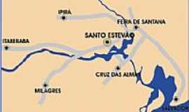 Santo Estev�o - Mapa de localiza��o