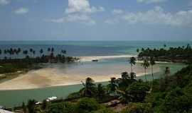 Jequiá da Praia - Jequiá da Praia-AL-Encontro do Rio Jequiá com o mar-Foto:Ana_e_Lauro_Alagoas