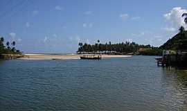 Jequiá da Praia - Jequiá da Praia-AL-Rio Jequiá-Foto:www.melhorespraias.com.br
