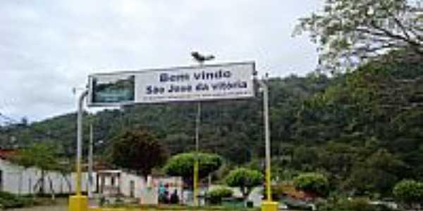 entrada da cidade de São José da Vitória-Foto:Renan Louzada