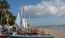 Porto de Galinhas - Barcos na praia de Porto de Galinhas-PE-Foto:E. B. Boaventura