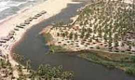 Imbassaí - O rio e o mar em Imbassaí-Foto:acasadopeu.