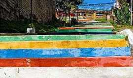 Arraial D Ajuda - Arraial D´Ajuda-BA-Escadaria colorida-Foto:amadeo_menegat