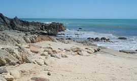 Jericoacoara - Jericoacoara-CE-Rochas na praia-Foto:raphamendes