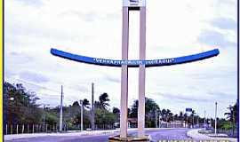 São Miguel do Gostoso - São Miguel do Gostoso-RN-Pórtico de entrada da cidade-Foto:WLuiz