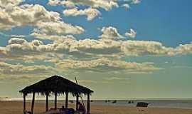 São Miguel do Gostoso - São Miguel do Gostoso-RN-Quiosque na praia-Foto:thyrone