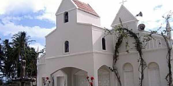 São Miguel do Gostoso-RN-Matriz de São Miguel Arcanjo-Foto:Vicente A. Queiroz