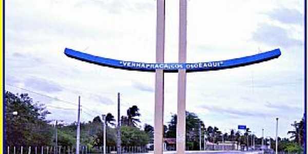 São Miguel do Gostoso-RN-Pórtico de entrada da cidade-Foto:WLuiz