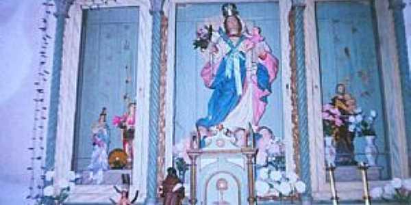 Frecheiras da Lama-PI-Altar Mor da Igreja de N.Sra.do Rosário-Foto:Ailton Ponte