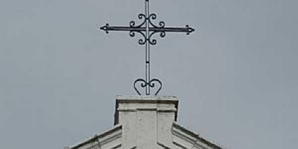 Frecheiras da Lama-PI-Detalhe na Torre da Igreja de N.Sra.do Rosário-Foto:Ailton Ponte