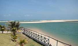 Águas Belas (Praia) - Águas Belas(Praia)-CE-Orla da praia-Foto:www.ceararotas.com.br