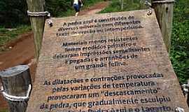 Pedra Azul - Pedra Azul-ES-Painel explicativo no caminho para o mirante e Pedra Azul-Foto:Paulo Yuji Takarada