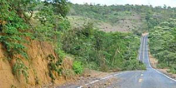 Cabeceira da Jibóia-BA-Rodovia chegando na cidade-Foto:noticias.terra.com.br