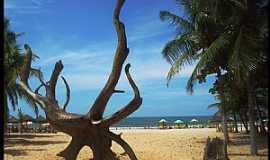Guaibim - Guaibim-BA-Escultura de árvore na praia-Foto:Crioulla Oliveira