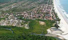 Guaibim - Guaibim-BA-Vista da praia e a cidade-Foto:Jardel_usa