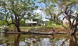 Mamirauá - Mamirauá-AM-Comunidade Boca do Mamirauá na Reserva-Foto:www.nativosdomundo.com.br