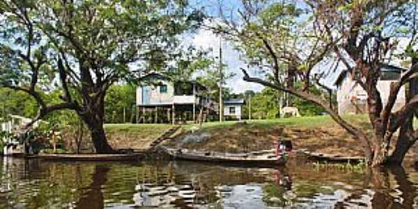 Mamirauá-AM-Comunidade Boca do Mamirauá na Reserva-Foto:www.nativosdomundo.com.br
