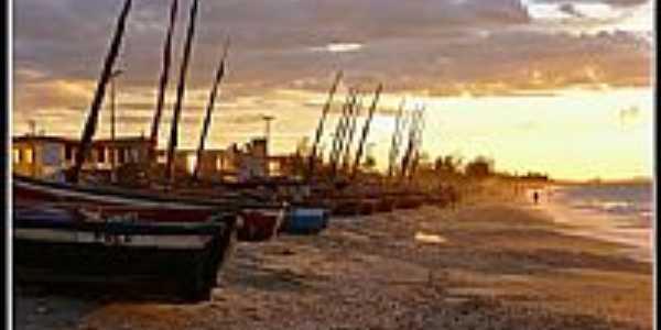 Barcos na orla de Praia do Preá-CE-Foto:Nick Ad@ms