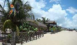 Barra Grande - Barra Grande-PI-Casas na praia-Foto:Edilson Morais Brito