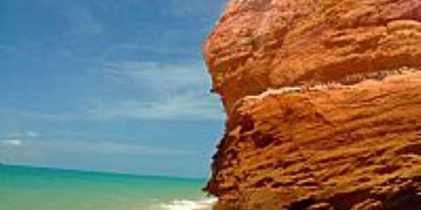 Falésia na Praia Carro Quebrado-AL-Foto:RodrigoAlves
