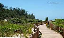 Praia da Ferrugem - Caminho da praia-Foto:litoraldesantacatarina.