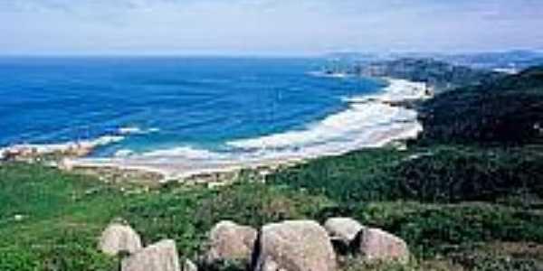 Vista da praia-Foto:florianopolis.maisperto.