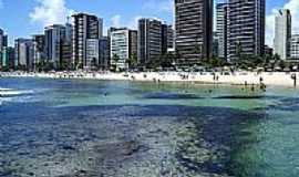 Praia de Boa Viagem - Piscinas de corais na Praia de Boa Viagem-Foto:Sergio Menezes