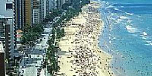 Vista da Praia de Boa Viagem-Foto:plc