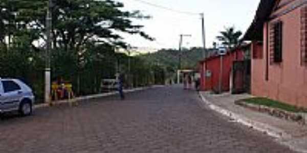 São Sebastião das Águas Claras(Macacos)-MG-Rua central-Foto:Fernando Bezerra