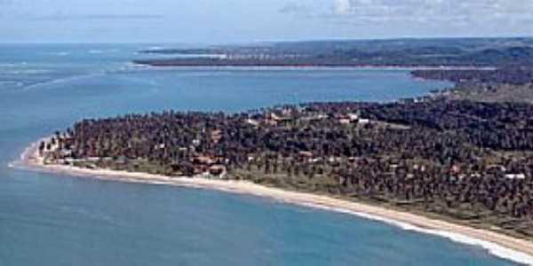 Barra do Sirinhaém-BA-Vista aérea-Foto:EcoViagem - Uol