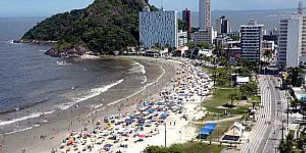 Caiobá-PR-Vista da cidade e a praia-Foto:Turismo e Praia