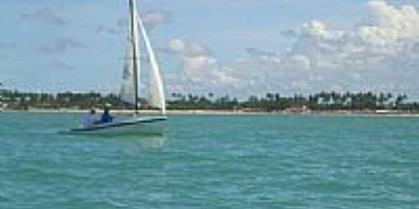 Vela e vista da Praia de Marinha Farinha-Foto:arthurmoura