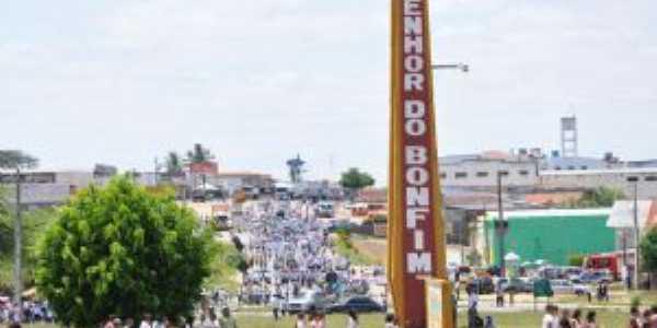 Entrada da cidade de Senhor do Bonfim - BA, Por Samara