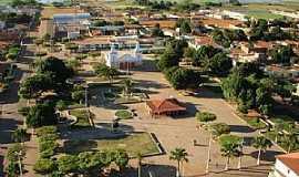 Sento Sé - Sento Sé-BA-Vista aérea da Praça central e Matriz-Foto:geidsonc