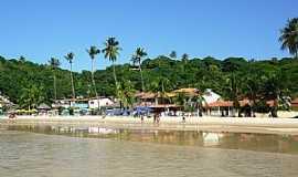 Praia de Gaibu - Praia de Gaibu-PE-Casas na praia-Foto:Alan Bernardino de Oliveira