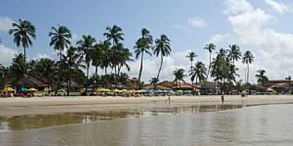 Praia de Gaibu-PE-Vista da praia-Foto:Alan Bernardino de Oliveira
