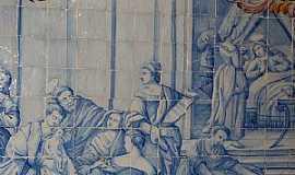 Oliveira dos Campinhos - Oliveira dos Campinhos-BA-Azulejos portugueses pintados no interior Igreja de N.Sra.de Oliveira-Foto:Cadu Freitas/BnL
