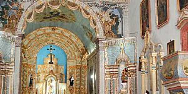 Oliveira dos Campinhos-BA-Altar Mor da Igreja de N.Sra.de Oliveira-Foto:Cadu Freitas/BnL