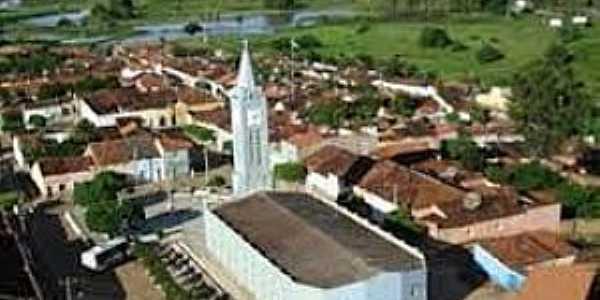 Passos Feliz-CE-Vista da Igreja no centro da cidade-Foto:lavrasnamidia.blogspot.com
