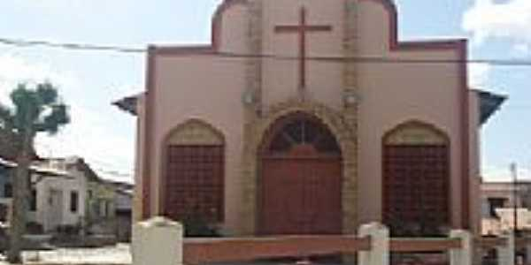 Praia de Uruaú-CE-Igreja de N.Sra.de Fátima depois da reforma-Foto:fmminhahistoria1a.blogspot