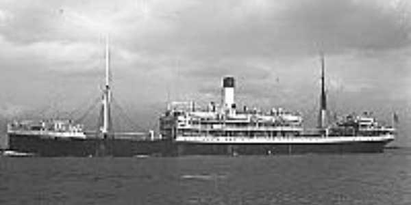 Praia de Uruaú-CE-Imagem do navio Siqueira Campos em 1943-Foto:mardoceara.