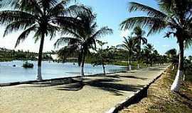 Praia do Baixio - Praia do Baixio-BA-Lagoa Azul e coqueiros na entrada-Foto:pousadalagoaazulbaix.wix.com