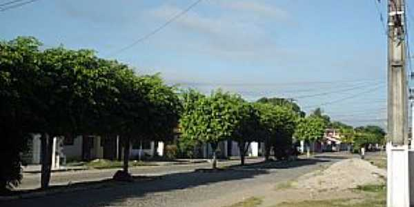São Bento do Inhatá-BA-Avenida ao amanhecer-Foto:Giovan A.