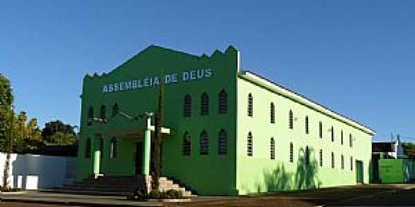 Paraíso das Águas-MS-Igreja da Assembléia de Deus-Foto:Altemiro Olinto Cristo