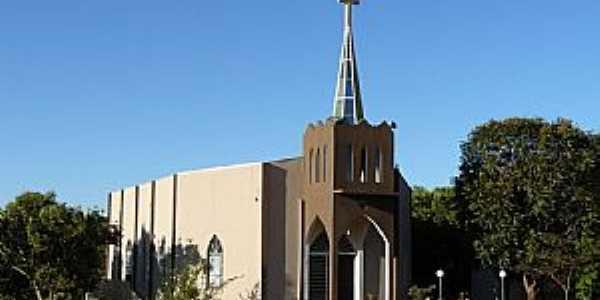 Paraíso das Águas-MS-Igreja de São João Vianney e São Sebastião-Foto:Altemiro Olinto Cristo