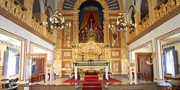 Vila do Tabuleiro-MG-Interior da Matriz do Bom Jesus da Cana Verde-Foto: Evaldo Sales